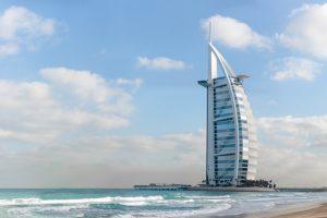 гледка към бурж ал араб и морето